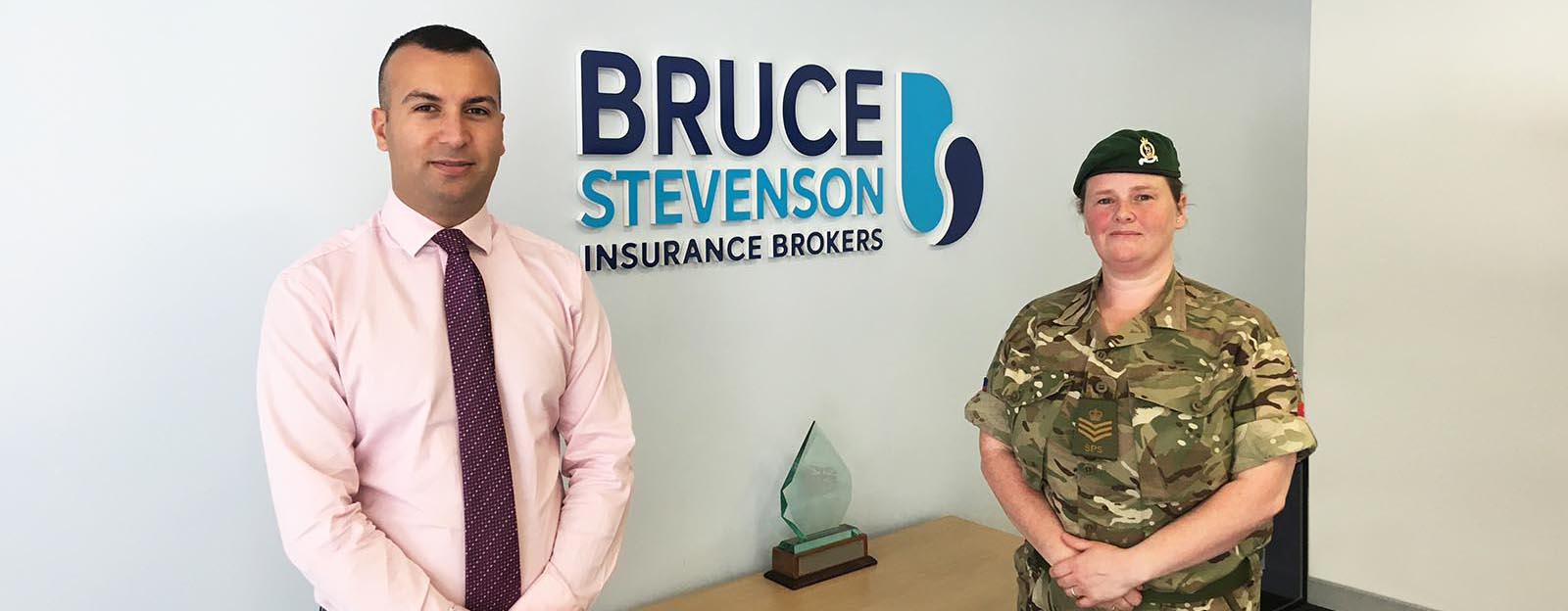 Account Executive Michael Hashim and Staff Sgt. Jo Mundie